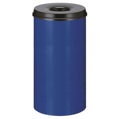 Kosz na papier, samogaszący, poj. 50 l, korpus niebieski / głowica gasząca czarn