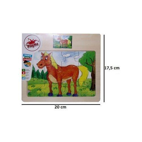 Puzzle drewniane Koń 12, 5_607642