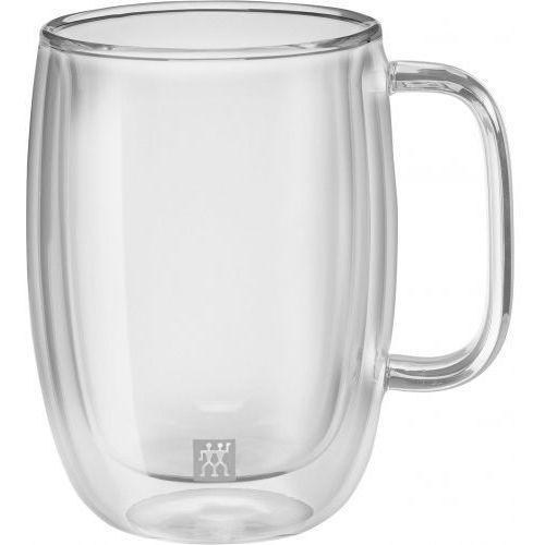 ZWILLING Sorrento Plus Zestaw Szklanek do Latte ze Szkła Dwuściennego z Uchwytem 450ml 2el., 39500-114