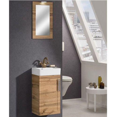 Zestaw mebli łazienkowych delta o szerokości 37,5 cm z ceramiczną umywalką marki Badmobil by fackelmann