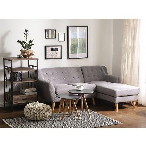 Sofa jasnoszara - kanapa - tapicerowana - narożnik - motala marki Beliani