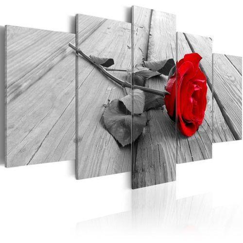 Artgeist Obraz - róża na drewnie
