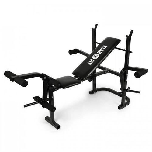 KLARFIT Ławka pod sztangę ze stojakiem, bicepsy, mięśnie nóg (4260236113332)