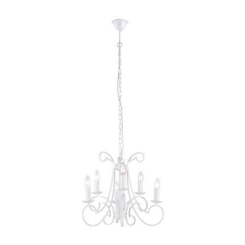 Zuma line Lampa wisząca candle rld94757-6 zwis świecznikowa oprawa 6x40w e14 biała (2011005456110)