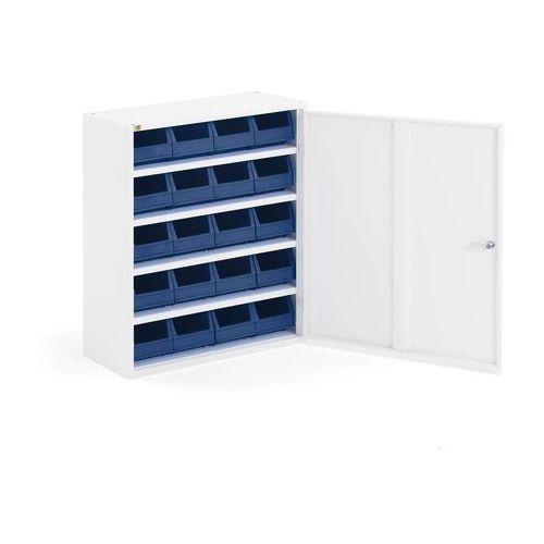 Szafka warsztatowa SERVE z pojemnikami, 800x660x275 mm, biały