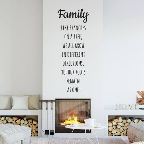 Naklejka dekoracyjna sentencja family like branches on a tree 2436 marki Wally - piękno dekoracji