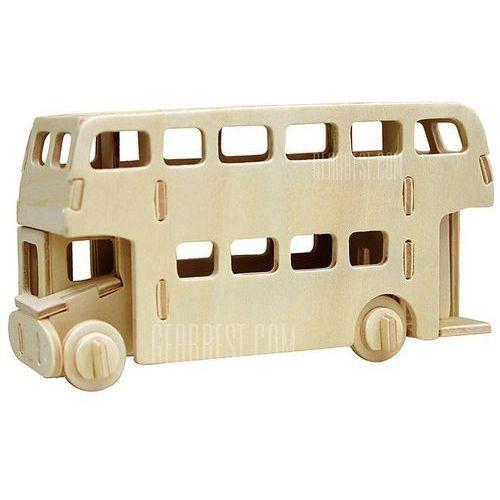Robotime bus 3d jigsaw puzzle woodcraft assemble toy educational game kids gift wyprodukowany przez Gearbest
