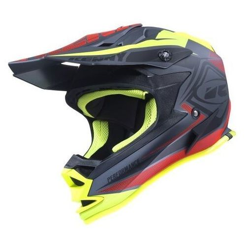 KENNY KASK PERFORMANCE MATT BLACK/RED/YELLOW