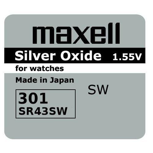 Maxell Bateria srebrowa mini 301 / 386 / sr 43 / 186 (4902580132132)