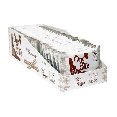 Cocoa (czekolady i bakalie w surowej czekoladzie) One bite tabliczka biała z cynamonem bio 15 g - cocoa (5902565210953)