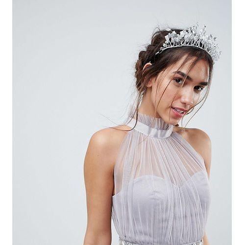 diamante leaf hair crown - silver marki True decadence