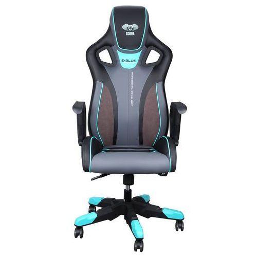 Fotel Gaming E-BLUE COBRA III, czarno-niebieski
