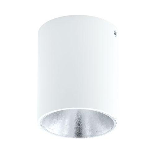 Eglo Plafon polasso 94504 lampa oprawa sufitowa spot 1x 3,3w biały/srebrny led (9002759945046)