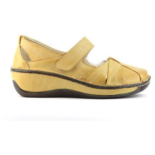 Półbuty damskie 723 - żółty marki Helios