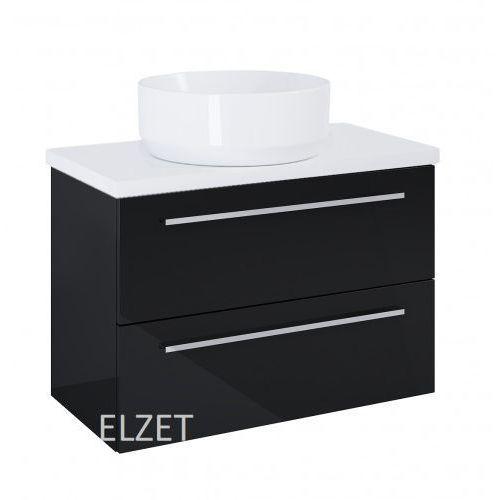 ELITA szafka Kwadro Plus 2S black pod umywalkę nablatową + blat 80 white 167647.166866, 167647.166866
