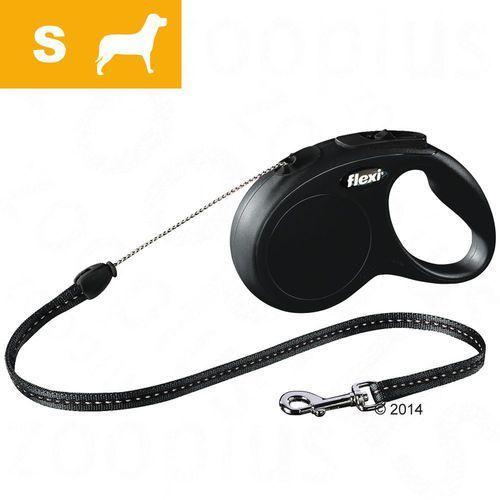 Smycz dla psa Flexi New Classic S czarna, 5 m - Czarna smycz z kategorii Smycze i szelki dla psów