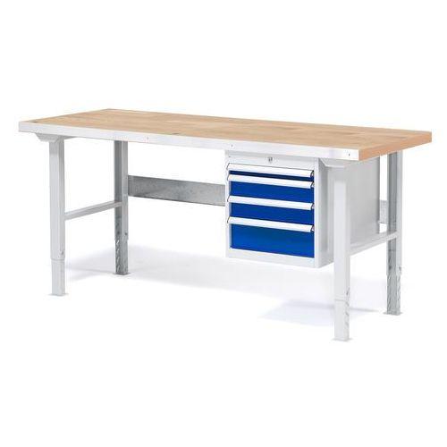 Aj produkty Stół warsztatowy solid, zestaw z 4 szufladami, 500 kg, 1500x800 mm, dąb