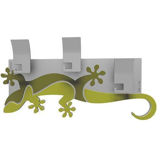 Wieszak ścienny dekoracyjny gecko cedrowo-zielony (54-13-2-51) marki Calleadesign