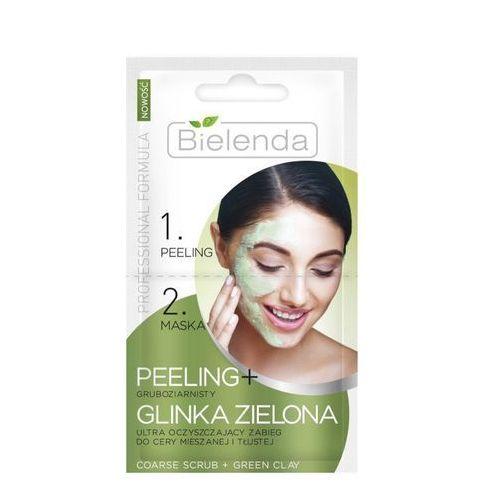 Professional formula peeling gruboziarnisty + maska z glinki zielonej 2x5g marki Bielenda