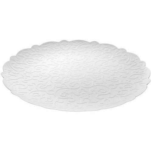 Alessi DRESSED Taca okrągła ze stali nierdzewnej z reliefem biała (MW07 W) Darmowy odbiór w 20 miastach!, MW07 W