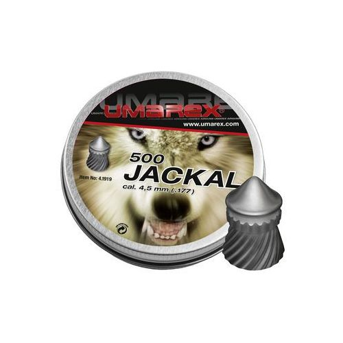 Śrut diabolo Umarex Jackal Pointed Ribbed 4,5 mm 500 szt.