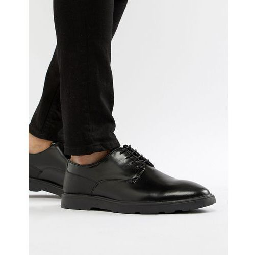 Silver Street High Shine Derby Shoes in Black - Black