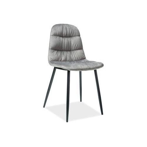 Krzesło Signal - VEDIS szary aksamit