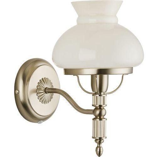 Kinkiet luiza 18360 ścienny oprawa ścienna lampa 1x40w e14 ecri złoty marki Alfa