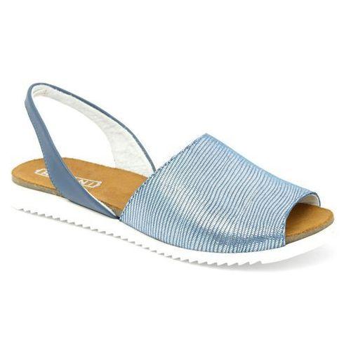 Sandały Ravini 1112 niebieski, kolor niebieski