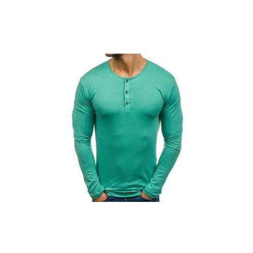 Longsleeve męski henley zielony denley 1114, Athletic