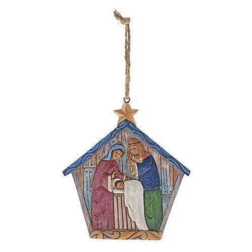 Szopka zawieszka Folklore Holy Family (Hanging ornament) 6001456 Jim Shore figurka ozdoba świąteczna