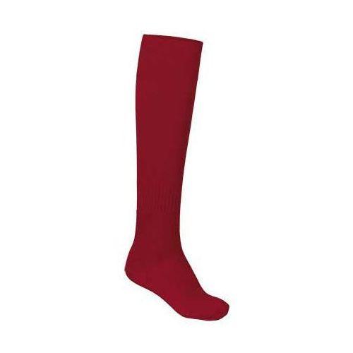 Skarpety sportowe podkolanówki getry piłkarskie VALENTO KRAMER czerwony 43-46, kolor czerwony