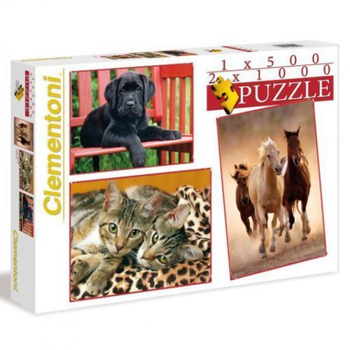 CLEMENTONI 500 + 2x1000 EL. Zwierzęta - sprawdź w wybranym sklepie