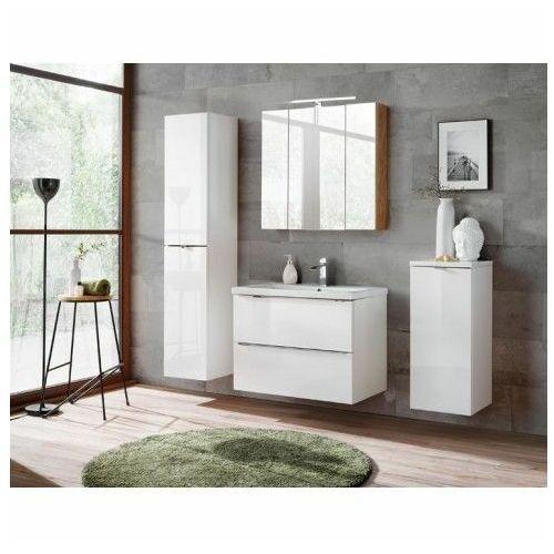 Zestaw podwieszanych szafek łazienkowych - Malta 2Q Biały połysk 80 cm