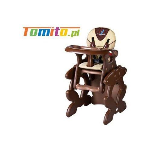 Caretero 2w1 krzesełko stolik do karmienia primus brown