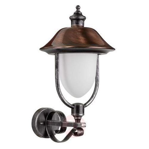 Lcd rendsburg lampa ścienna czarny, miedź, 1-punktowy - klasyczny/rustykalny - obszar zewnętrzny - rendsburg - czas dostawy: od 4-8 dni roboczych