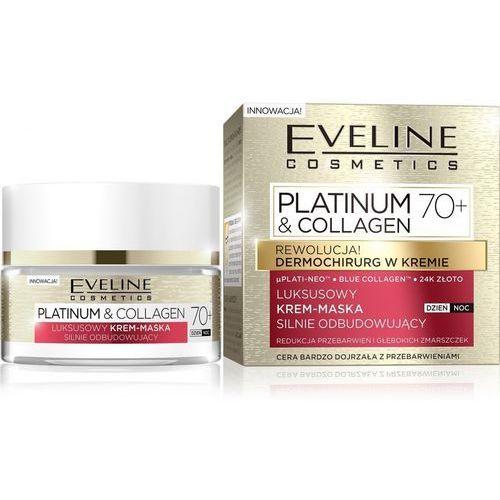 platinum & collagen 70+ krem-maska silnie odbudowujący na dzień i noc 50ml marki Eveline