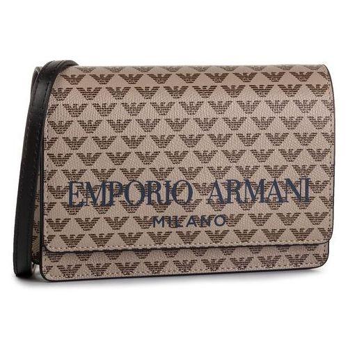Torebka EMPORIO ARMANI - Y3B086 YFG6A 83941 Ecru/darkbrown/Blac, kolor brązowy