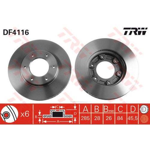 TARCZA HAM TRW DF4116 TOYOTA HIACE IV 2.4, 2.4 4WD 95-98, 2.4D 95-, 2.5D-4D 01-, 2.7 98- (3322937288595)