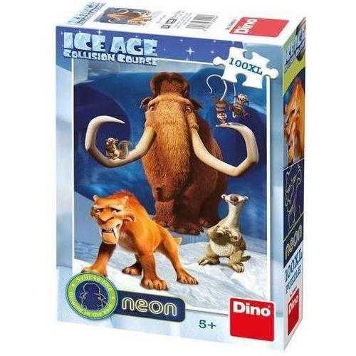Dino toys Puzzle 100 xl neon epoka lodowcowa 5 dino (8590878394094)