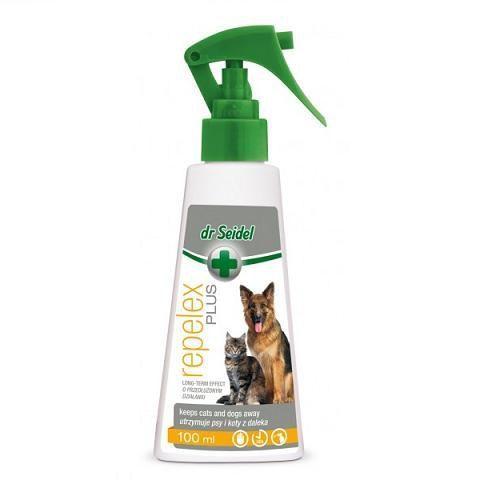 dr seidel repelex plus odstraszacz wewnętrzny dla psów i kotów marki Dermapharm