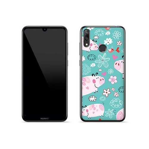 Huawei Y7 (2019) - etui na telefon Fantastic Case - różowe świnki