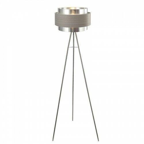 Basil Szary E27 Lampa podłogowa trójnóg Rabalux 5385 (5998250353852)