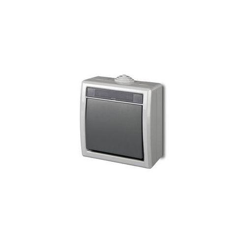 Elektro-plast nasielsk Aquant łącznik jednobiegunowy/schodowy szary ip55 1201-10