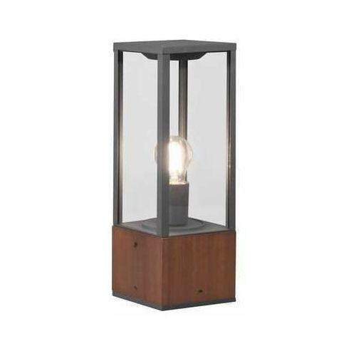 garonne 501860130 lampa stojąca zewnętrzna 1x60w e27 kolor drewna marki Trio