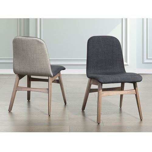 Beliani Krzesło ciemnoszare - krzesło do kuchni i jadalni - madox, kategoria: krzesła
