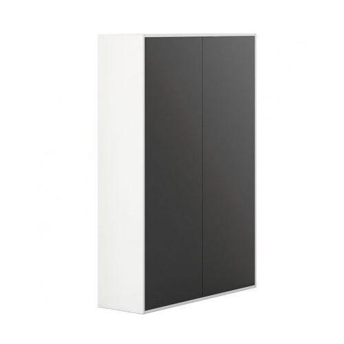 Plan Szafa wysoka z drzwiami white layers, czarne drzwi