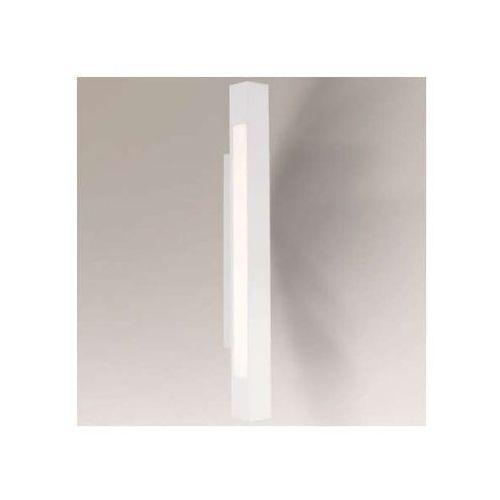 Kinkiet lampa ścienna otaru 8043/g5/bi prostokątna oprawa minimalistyczna listwa do łazienki ip54 biała marki Shilo