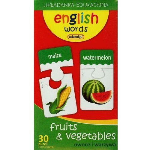 Adamigo Zestaw edukacyjny owoce i warzywa angielski - darmowa dostawa od 199 zł!!! (5902410006120)
