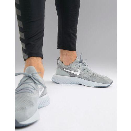 epic react flyknit trainers in grey aq0067-002 - grey, Nike running